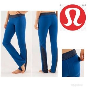 Lululemon blue split  set pants
